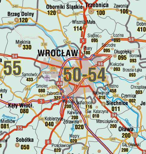Wrocław – kody pocztowe